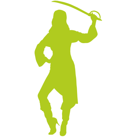 Naklejka jednokolorowa - pirat 06