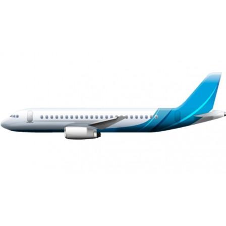 Naklejka Drukowana  lecący samolot pasażerski