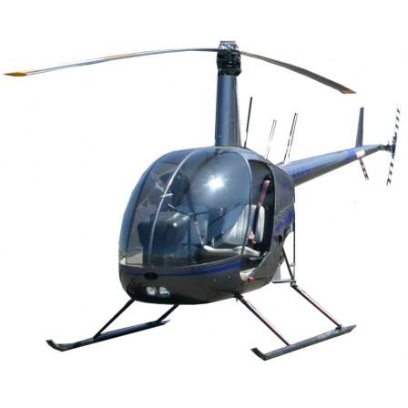 Naklejka Drukowana helikopter w chmurach