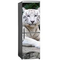 Naklejka na lodówkę - biały tygrys