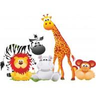Naklejka Drukowana zwierzęta afryki dla dzieci01