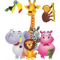 Naklejka Drukowana zwierzęta afrykańskie dla dzieci