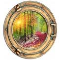 Okno - las, jesień, pejzaż