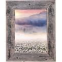Okno - góry, kwiaty, wschód słońca