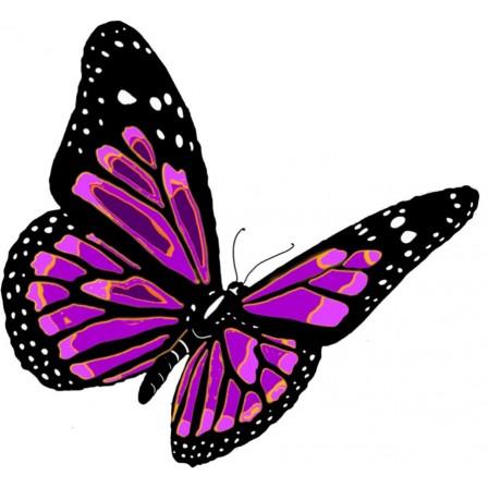 Naklejka Drukowana fioletowy motyl