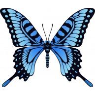 Naklejka Drukowana niebieski motyl