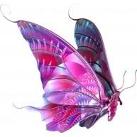 Naklejka Drukowana różowy motyl