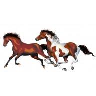 Naklejka Drukowana biegnące konie