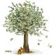 Naklejka Drukowana drzewo z  pieniędzmi