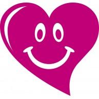 Naklejka Drukowana uśmiechnięte serce