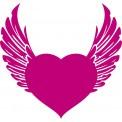 Naklejka Drukowana serce ze skrzydłami