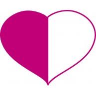Naklejka Drukowana różowo białe serce