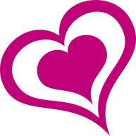 Naklejka Drukowana serce 01