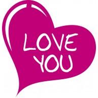 Naklejka Drukowana  serce love you