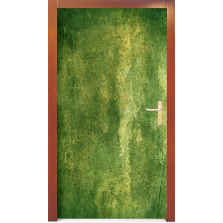 Naklejka na drzwi -zielony mech