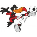 Naklejka Drukowana    ptak piłkarz