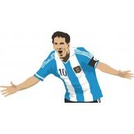 Naklejka Drukowana  piłkarz Messi
