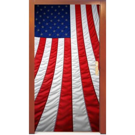 Naklejka na drzwi - flaga USA