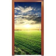 Naklejka na drzwi - łąka