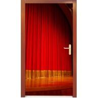 Naklejka na drzwi - kurtyna