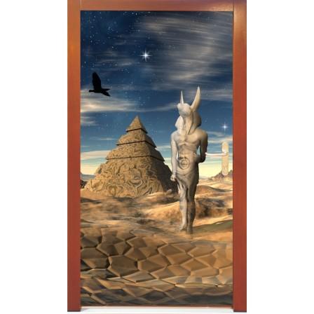 Naklejka na drzwi - piramida