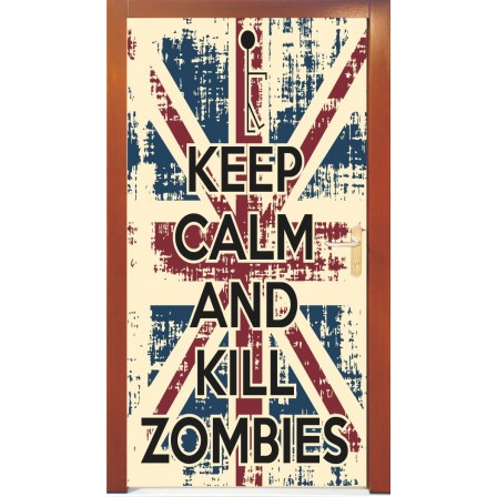 Naklejka na drzwi - keep calm
