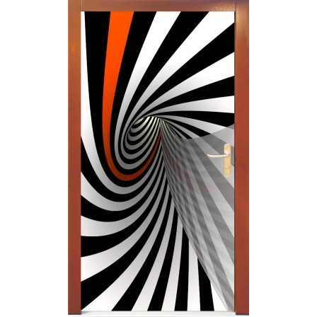 Naklejka na drzwi -  abstrakcja