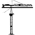 Naklejka jednokolorowa dźwig