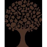 Naklejka jednokolorowa cukierkowe drzewko