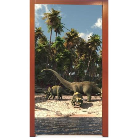 Naklejka na drzwi - dinozaury