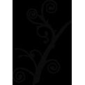 Naklejka jednokolorowa  gałązka