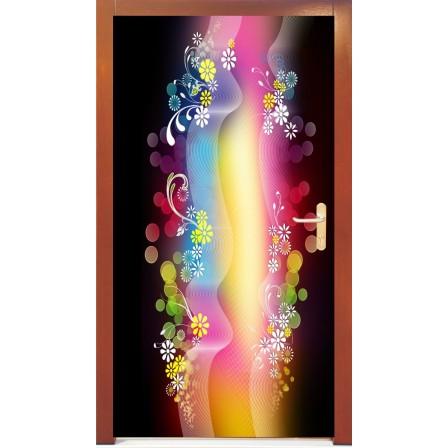Naklejka na drzwi - abstrakcja02