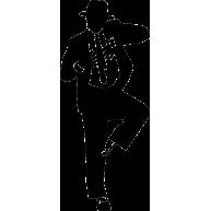 Naklejka jednokolorowa michael jackson