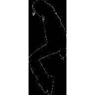 Naklejka jednokolorowa michael jackson 01