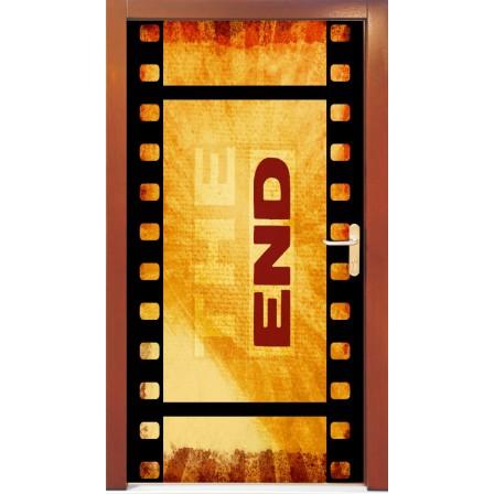 Naklejka na drzwi - taśma filmowa