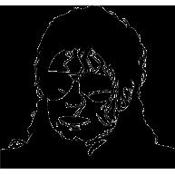 Naklejka jednokolorowa michael jackson twarz
