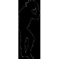 Naklejka jednokolorowa michael jackson 09