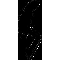 Naklejka jednokolorowa michael jackson 10