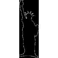 Naklejka jednokolorowa statua wolności USA