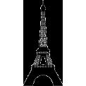Naklejka jednokolorowa wieża Eiffla