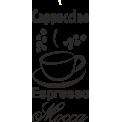Naklejka jednokolorowa cappuccino espresso