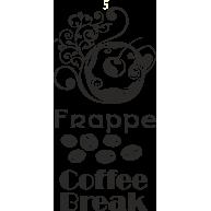 Naklejka jednokolorowa  frappe coffe