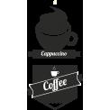 Naklejka jednokolorowa  cappuccino