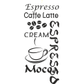 Naklejka jednokolorowa  espresso cream