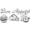 Naklejka jednokolorowa bon appetit 01