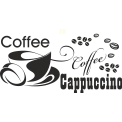 Naklejka jednokolorowa coffe cappuccino