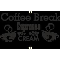 Naklejka jednokolorowa coffe break