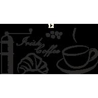 Naklejka jednokolorowa coffe