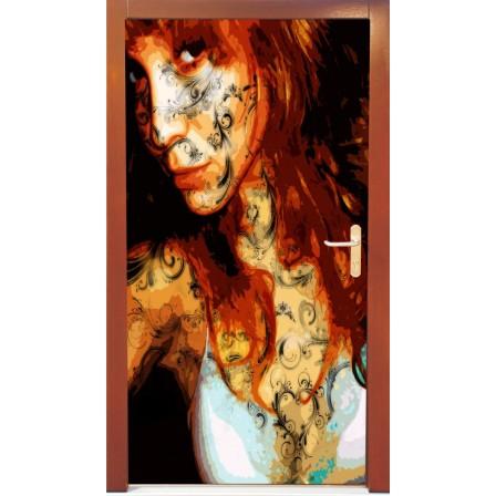 Naklejka na drzwi - kobieta01