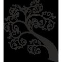 Naklejka jednokolorowa drzewko z wzorkami